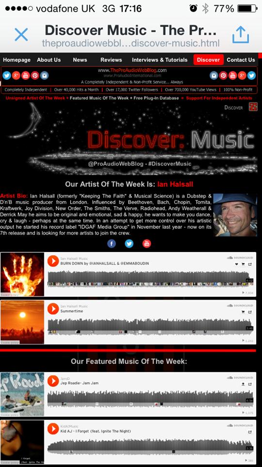 Ian Halsall Discover Music
